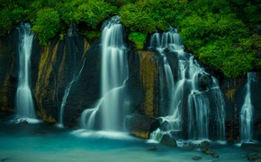 Picture rocks, waterfall, stream