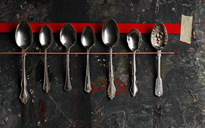 Picture background, wall, spoon