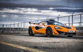 Picture orange, coupe, McLaren, 2020, V8 twin-turbo, 620R, 620 HP, 3.8 L.