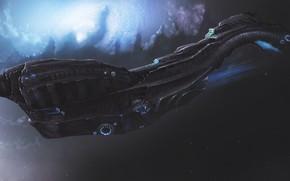 Picture Ship, Fantasy, Stars, Space, Art, Spaceship, Fiction, Nebula, Spaceship, Vehicles, Science Fiction, Spacecraft, Dmitrii Ustinov, …
