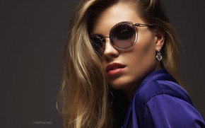 Picture girl, model, glasses, Nikolas Verano, Love Variates