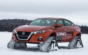 Picture winter, Concept, Nissan, caterpillar, AWD, Altima-te