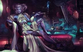 Picture girl, elf, World of Warcraft, warcraft, wow, night elf, Blizzard Entertainment