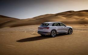 Picture white, the sky, Audi, desert, E-Tron, 2019