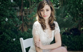 Picture look, girl, dress, Emmy Rossum