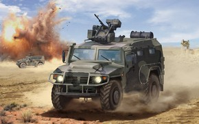 Picture Tiger, art, armored car, GAZ-233114, combat unit Crossbow