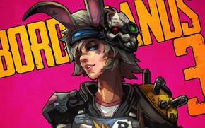 Picture look, girl, art, ears, borderlands, tiny tina