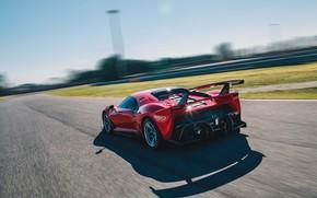 Picture machine, asphalt, movement, Ferrari, sports car, track, P80/C