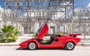 Picture Door, Lamborghini Countach, Sports car, Side view
