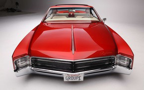 Picture Red, Car, Old, Riviera, Buick