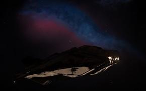 Picture ship, The game, NGC 6960, Elite: Dangerous, Туманность Ведьмина Метла, ASP EXPLORER