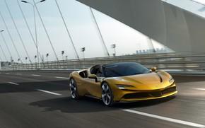 Picture bridge, Ferrari, supercar, Ferrari, Spider, 2021, SF90