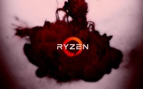 Picture red, background, clot, logo, AMD, Corn, Ryazan, Ryzen, RYZEN, Ryazhenka