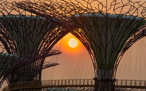 Picture the sun, sunset, Asia, Singapore