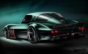 Picture Auto, Figure, Machine, Art, Chevrolet Corvette, Grand Sport, Vehicles, Transport, Transport & Vehicles, Andreas Hoås …