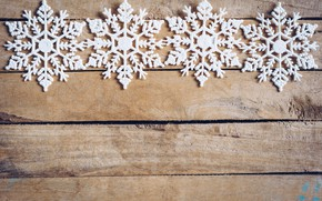Picture winter, snowflakes, tree, Board, New Year, new year, wood, winter, background, snowflakes