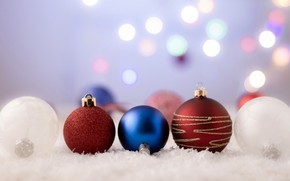 Picture balls, background, balls, new year