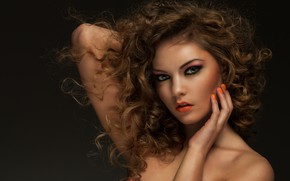 Picture portrait, look, Sergejs Rahunoks, curls, makeup, girl