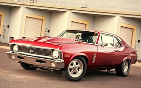 Picture Chevrolet, Red, Old, American Muscle, .Nova