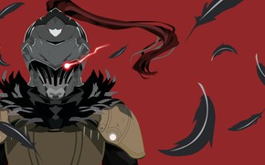 Picture background, feathers, knight, Goblin Slayer