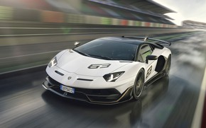 Picture speed, Lamborghini, supercar, racing track, 2018, Aventador, Aventador SVJ, The CONDOMINIUM 63
