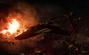 Picture space, the game, spaceship, Star Citizen