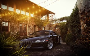 Picture Audi, Black, Machine, Light bulb, Audi R8, Car, Render, Rendering, Sports car, Audi R8 V10, …