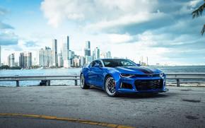 Picture Chevrolet, Camaro, Sky, Blue, Sight