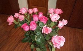 Picture flowers, roses, bouquet, vase, on the floor, are
