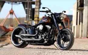 Picture Harley-Davidson, Motorcycle, Thunderbike