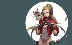 Picture fantasy, art, dragon, jinhao yang