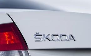 Picture sedan, Skoda, trunk lid, Skoda