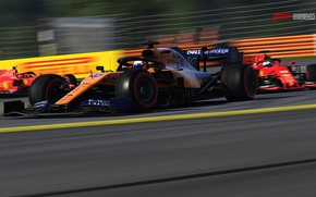 Picture speed, track, racing car, on the track, route, F1 2019, Mclaren MCL34, blurred