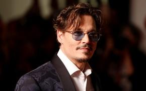 Picture look, Johnny Depp, glasses, Johnny Depp, actor, musician, filmmaker