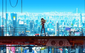 Picture girl, the city, Evangelion, Evangelion, Evangelion 1.0: You Are (Not) Alone