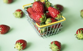 Picture berries, strawberry, basket, Strawberries
