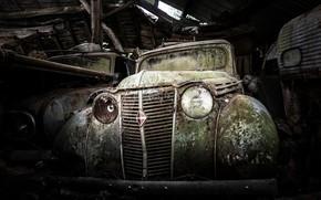 Wallpaper machine, garage, scrap