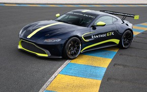 Picture Aston Martin, Vantage, racing car, 2018, GT4