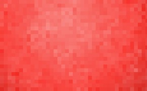 Picture red, background, Wallpaper, pixels, square