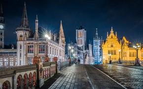 Picture bridge, building, home, Belgium, architecture, Belgium, Ghent, Ghent
