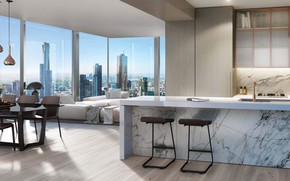 Picture design, style, interior, kitchen, megapolis, living room, dining room, GOL
