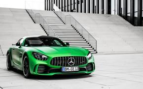 Picture Mercedes-Benz, ladder, green, Mercedes-AMG GT