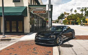 Picture Porsche, Black, Turbo S, VAG, Taycan