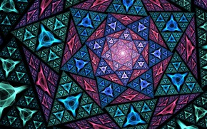 Picture flower, pattern, triangles