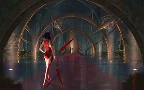 Picture Girl, Art, Fiction, Digital Art, Mignon, last level base, ZAKUGA, by ZAKUGA, Hall