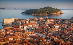 Picture sea, island, home, Croatia, Dubrovnik