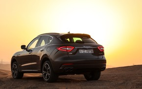 Picture sunset, Maserati, crossover, 2017, Levante, Q4, GranSport, Levante S
