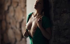Wallpaper chest, pose, Girl, Sergey Sorokin