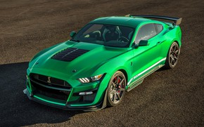 Picture Mustang, Ford, Shelby, GT500, 2020, Green Hornet, EXP 500