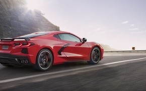 Picture Road, Corvette, Chevrolet, Speed, Stingray, Chef on wheels, 2020, Chevrolet Corvette ( C8 ) Stingray